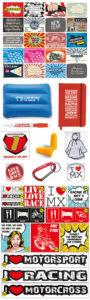 Set gadgets, stickers en postkaarten